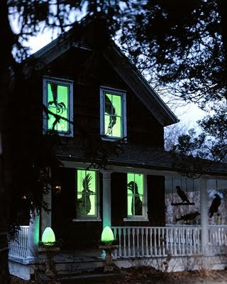 Haunted House Paper Silhouettes