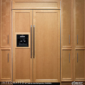 Dacor IF48DBOL 48 in Built In Overlay Side by Side Refrigerator