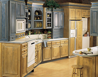 Fieldstone Dark French Country Kitchen