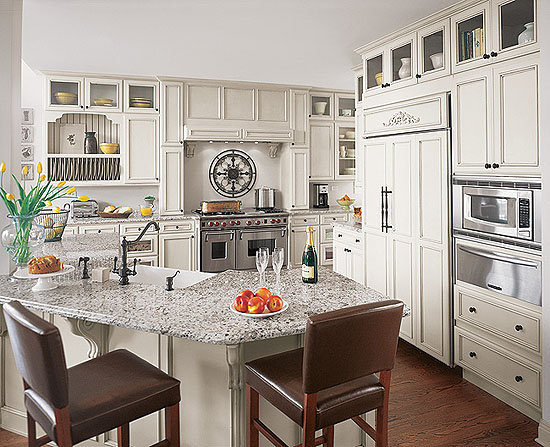 Fieldstone White French Country Kitchen