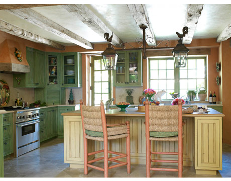 Provencal Theme French Country Kitchen from House Beautiful