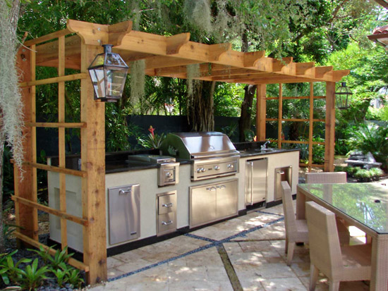 A Full Outdoor Kitchen Is A Great Place To Host Parties In Warmer Climates