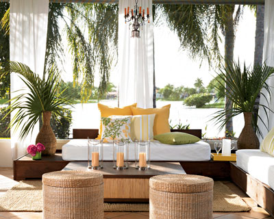 A Slightly Enclosed Patio Creates A Lazy, Mediterranian Look And Can Protect Against Weather