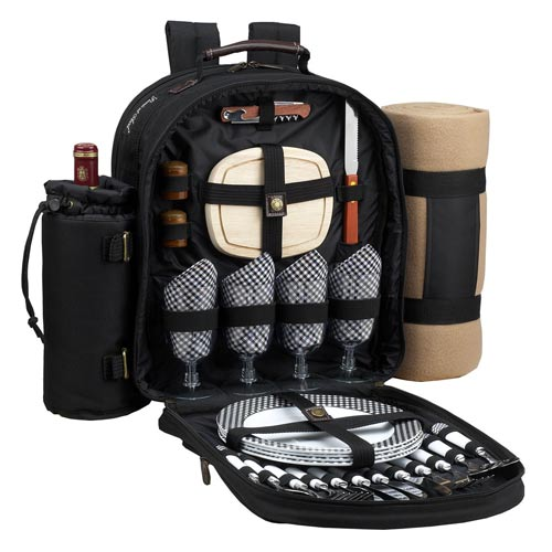 Picnic At Ascot Classic Backpack for Four