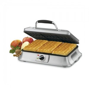 6 Slice Traditional Waffle Iron in Brushed Stainless