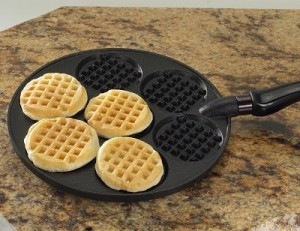 Nordic Ware International Specialties Aluminum Silver Dollar Waffle Griddle
