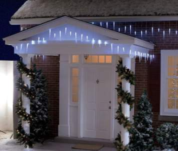 Trademark Global LED Solar Powered Icicle Christmas Light Set of 3