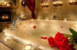 Nothing More Romantic Than Hot Water And Bubbles