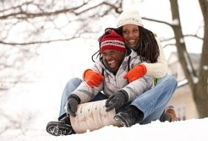 Spend Long Enough Sledding, And You Might Have To Warm Each Other Up