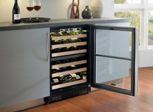 Marvel 6SDZEBSGR 24 Inch Chateau 44 Bottle Dual Zone Wine Cooler
