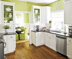 Painting This Room A Soft, Springy Green - And Adding A Few Matching Accents - Makes It Feel Calm And Inviting