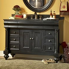 Kaco Bathroom Vanity in Black
